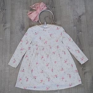 Old Navy 5T ballerina dress fit flare Long sleeve